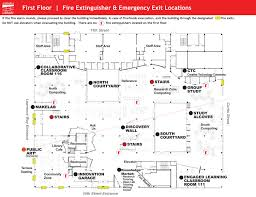 Fire Evacuation Floor Plan Maps And Directions Auraria Library