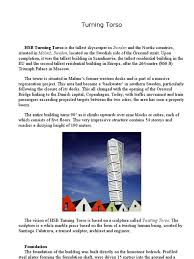 Turning Torso Floor Plan by Turning Torso Malmo Concrete Structural Engineering