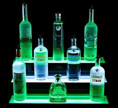 Liquor Display Shelves by Armana Productions 3 Step Illuminated Liquor Display Shelves