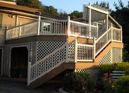deck lattice skirting deck design and ideas