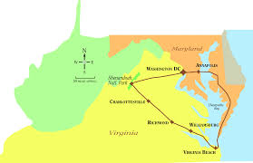 Virginia On The Map by The Virginian Tour Holiday Fly Drive Just America