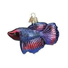 world betta fish glass blown ornament