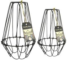 wire light bulb cage vintage industrial cage metal wire frame pendant l shades