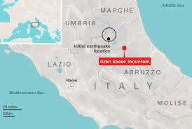 Italy Earthquake Map Dozens Feared Dead After Huge Avalanche Buries Luxury Italian