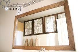 Wood Frames For Bathroom Mirrors - diy mirror easy upgrade shanty 2 chic
