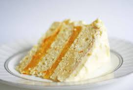 triple layer white cake with orange curd filling recipe