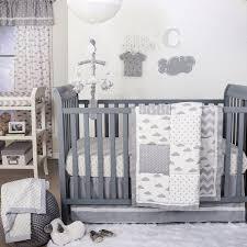 Zig Zag Crib Bedding Set The Peanut Shell 4 Piece Baby Crib Bedding Set Grey Clouds