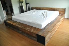 Low Bed Frames Walmart Plank Bed Frame U2013 Bare Look
