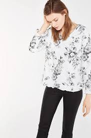 white flowy blouse s blouses shirts cortefiel