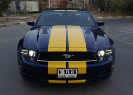 Yellow Mustang With Black Stripes Ford Mustang Shelby Gt 5 0 Yellow Stripes Foilacar