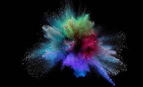 powder colorful splash wallpaper 3d and abstract wallpaper