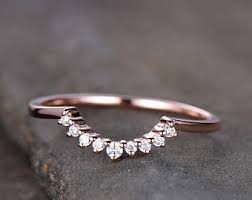 curved wedding bands curved wedding band etsy