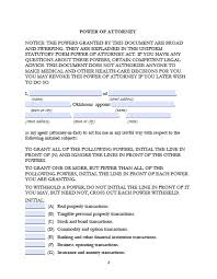 Free Power Of Attorney oklahoma minor child power of attorney form power of attorney