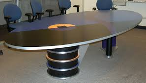 Oval Boardroom Table Modern Oval Conference Table Tech Museum San Jose