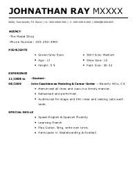 where can i make a resume for free performing arts resume examples examples of resumes