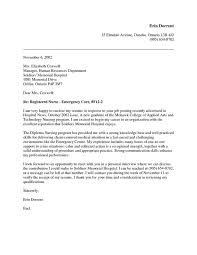 Sample Er Nurse Resume by Free Nurse Practitioner Cover Letter Sample Http Www