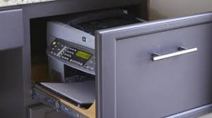 printer and file cabinet hide your printer in a desk drawer or file cabinet