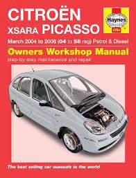 haynes manual 4784 citroen xsara picasso petrol u0026 diesel 04 to 08
