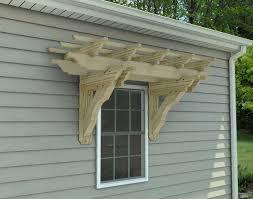 treated pine eyebrow breeze wall mount pergolas pergolas by
