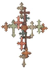 decorative crosses for wall midwest cbk cross on cross wall décor home