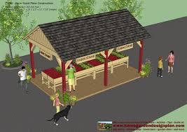 home garden plans fs100 farm stand plans construction farm