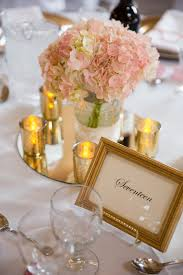 Pink And Gold Table Setting by Spring Wedding Julie Hill Photography