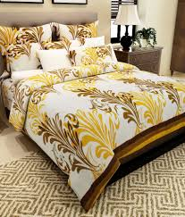 Throw Pillow Covers Online India Home Candy Yellow Paisley Cotton Double Bed Sheet With 2 Pillow