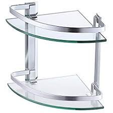 Glass Bathroom Corner Shelves Kes Aluminum Glass Shelf Bathroom Bath Corner Caddy Basket Storage