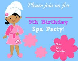 spa birthday party invitations printables free images invitation