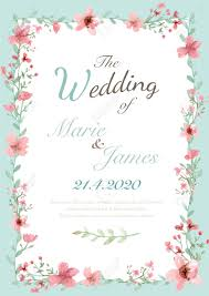 Invitation Card Stock Flower Wedding Invitation Card Save The Date Card Greeting