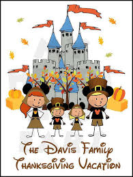 choose your characters disney world castle thanksgiving family