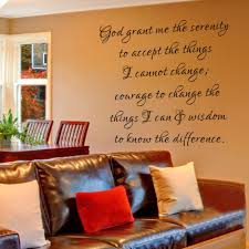 Inspirational Quotes For Home Decor by God Grant Me The Serenity Inspirational Quote Wall Decal Quote