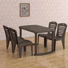 Plastic Dining Table Online Shopping India Cello Plastic 4 Seater Dining Set Price In India Buy Cello