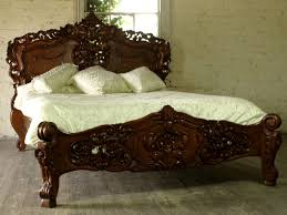 Solid Mahogany Bedroom Furniture by Rococo 5 U0027 King Size French Style Louis Solid Mahogany Bed Brand