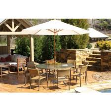 Patio Furniture Dining Sets With Umbrella - amazon com tortuga maracay 9 piece outdoor dining set outdoor