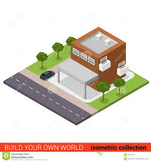 Parking Building Floor Plan Flat 3d Isometric Business Office Condominium Parking Building
