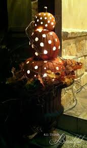 Pre Lit Topiary All Things Beautiful Diy Fall Porch Pumpkin Topiary