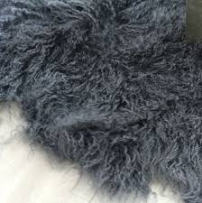 Fur Runner Rug Faux Fur Rug Bed Runner Smoke Grey Duo Runner Mongolian Sheepskin