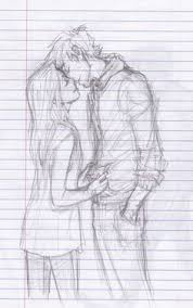 kiss sketch of boy and sketches of couples pinterest