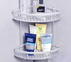 Corner Bathroom Shelves Corner Bathroom Wall Mounted Shelves With Aluminum Materials
