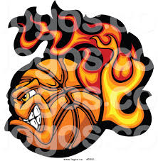 royalty free vector of a logo of a profiled tough flaming