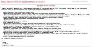 Veterinary Resume Templates Animal Breeder Cover Letter Animal Breeder Job Title Docs