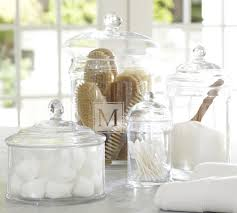 pottery barn glass canisters are great i use these all the time