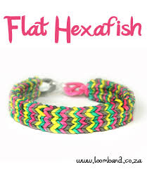 bracelet looms bands images Flat hexafish loom band bracelet tutorial loomband sa jpg