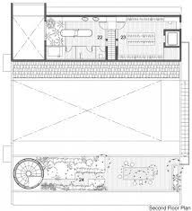 Staircase Floor Plan Courtyard House Open To Outdoors With Sculptural Staircase