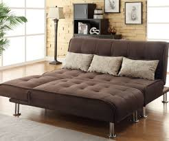Where Can I Buy Floor Lamps by Futon Faux Leather 3 Seater Sofa Bed Brown Black Homegenies