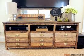 how to build a tv cabinet free plans printmakers media console free diy plans rogue engineer