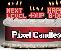 8 bit cake decorations pixel candles