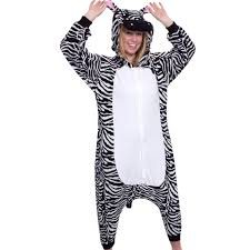 zebra halloween costume plata lilly unisex adulto disfraz cosplay animal de la felpa