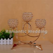 candelabra centerpiece free shipment 10pcs lots 5 arms modern gold metal
